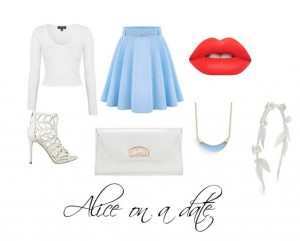 Obviously influenced by Alice in Wonderland, with judt a little bit of Taylor Swift this outfit is perfect for a classy girl.